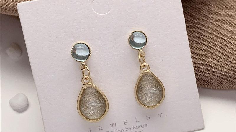 Blue& grey Earrings