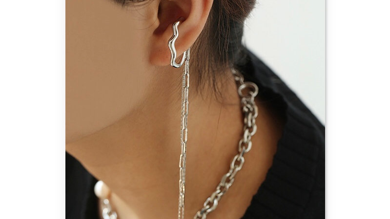 White gold plated Ear cuff