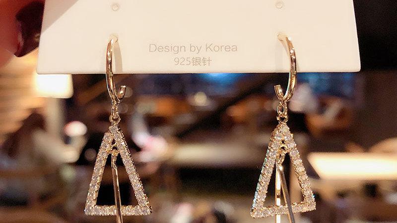 Rhinestone triangle Earrings