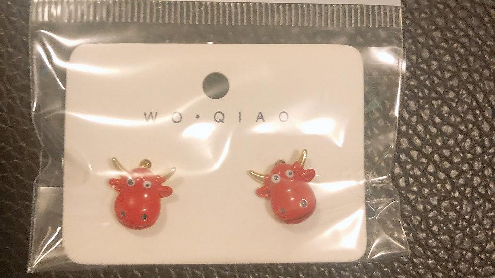 Red bull Earrings