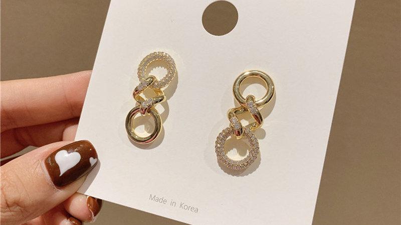 Circles & square Earrings