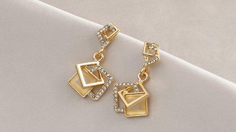 Opal rhinestone Earrings