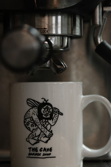 Caveman Coffee Mug, only in the Cave Barbershop HK