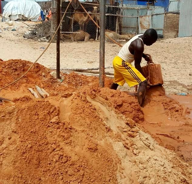 Brunnenbau in Kismayo