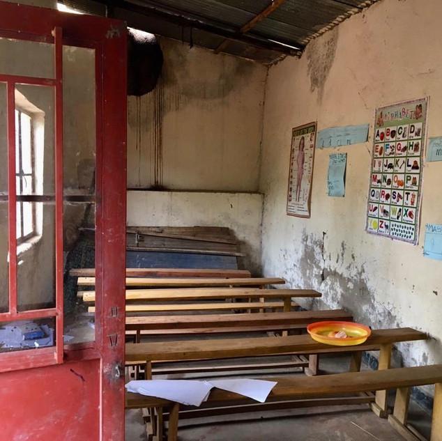 Marode Schule der UNS
