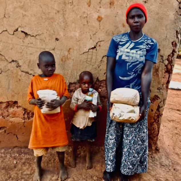 Nahrungsmittel Verteilung in Ruanda