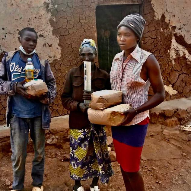 Nahrungsmittelverteilung in Ruanda