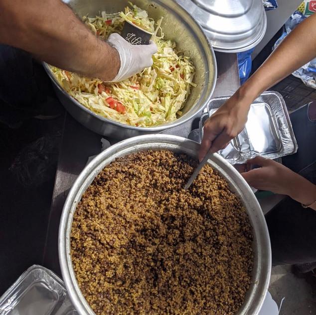Nahrungsmittelverteilung in Beirut