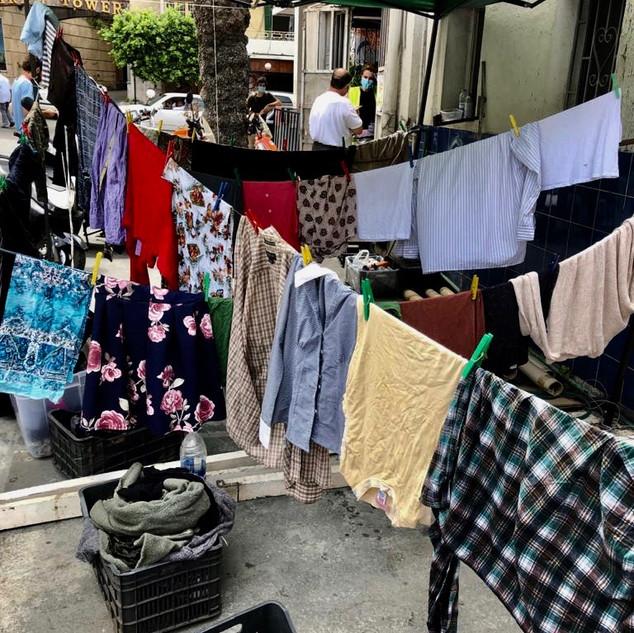 Kleider Nothilfe in Beirut