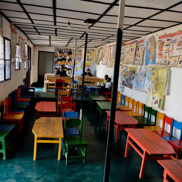 Schulbänke Kagugu Schule