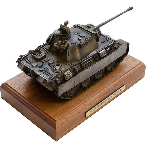 German Panther Tank Cold Cast Bronze Statue