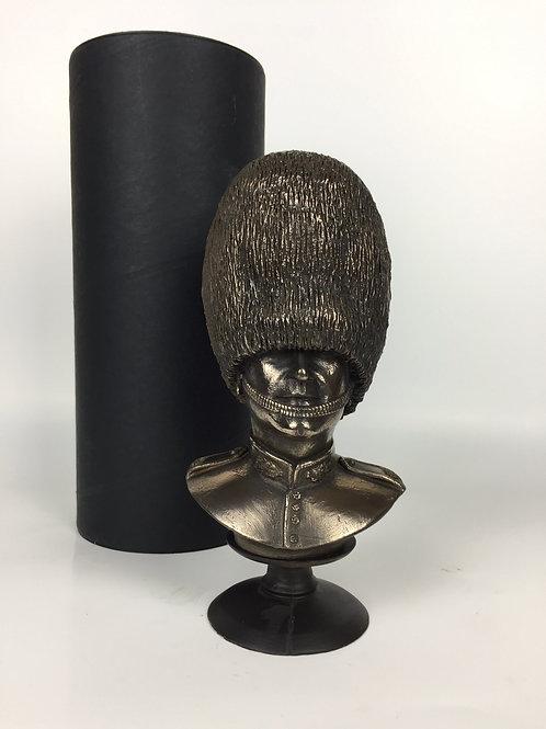 Scots Guard Bust Cold Cast Bronze Military Statue Sculpture