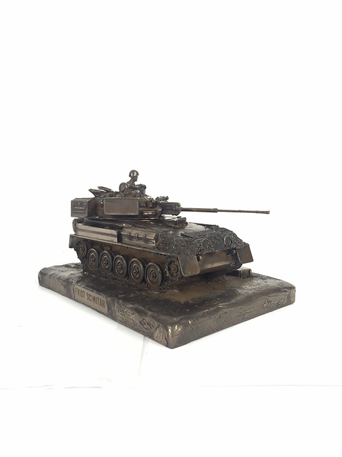Scimitar FV107 Cold Cast Bronze Military Vehicle