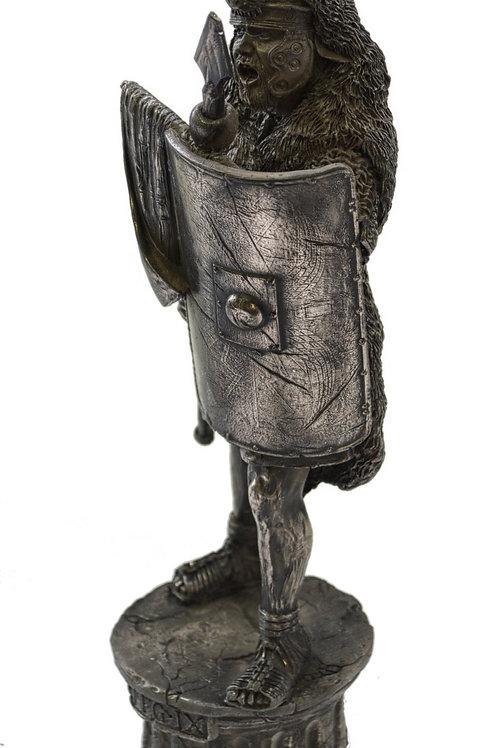 Roman Soldier 9th Legion Cold Cast Bronze Figure