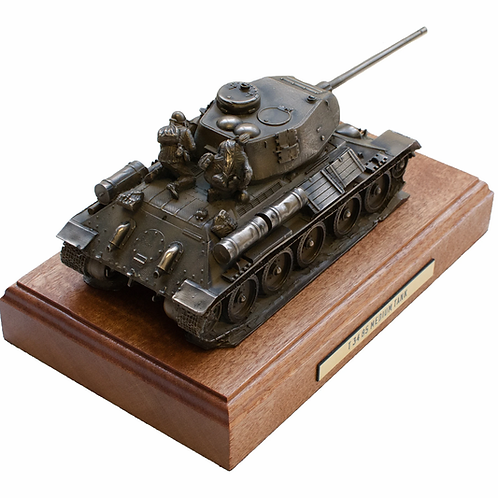 T-34 Medium Tank Cold Cast Bronze Military Statue
