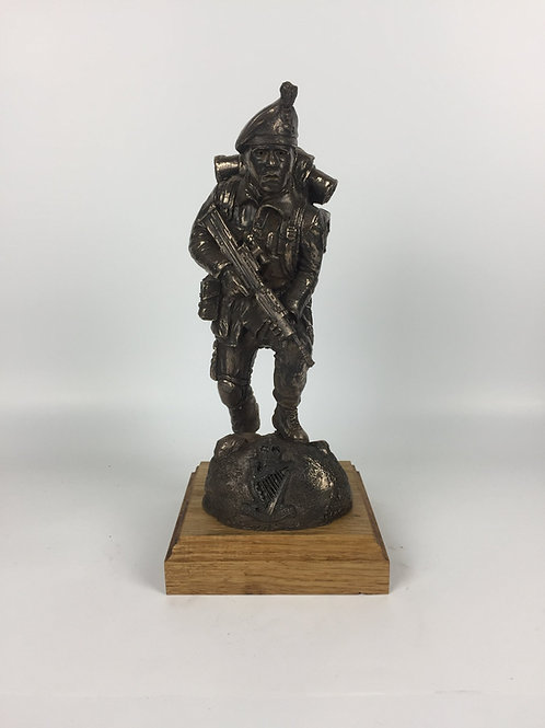 Royal Irish Ranger SA80 Caubeen Cold Cast Bronze Military Statue