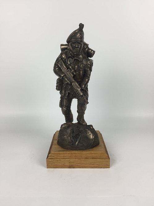 Royal Irish Ranger SA80 Caubeen Cold Cast Bronze Military Statue