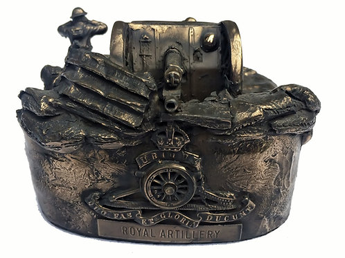 First World War 18 Pounder Gun Royal Artillery Cold Cast Bronze Statue