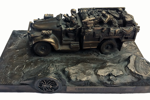 Long Range Desert Group Chevrolet Cold Cast Bronze Statue