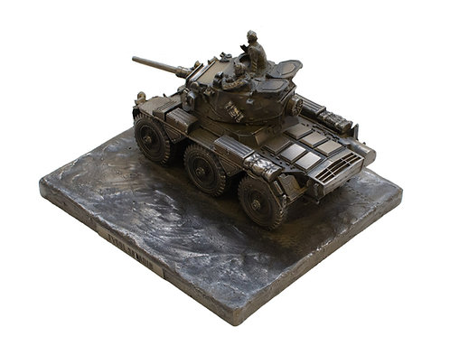 Saladin FV601 Armoured Car Cold Cast Bronze Military Statue