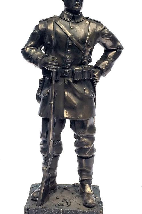 First World War Cold Cast Bronze German Soldier