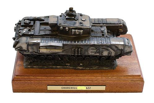 Churchill Tank Cold Cast Bronze Military Statue