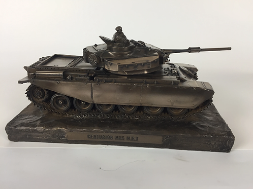 Centurion Mk5 Main Battle Tank Cold Cast Bronze Military Statue