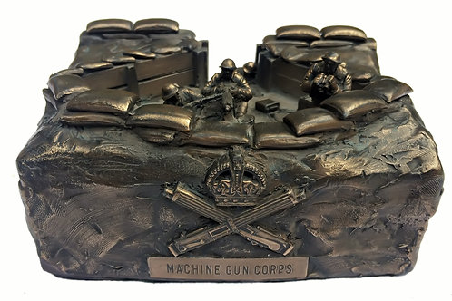 Cold Cast Bronze First World War Machine Gun Corps Gun Nest