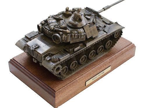 M60A1 Patton Tank Cold Cast Bronze Military Statue