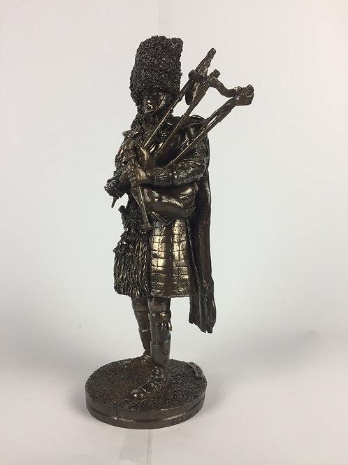 Royal Regiment of Scotland Piper Bronze Military Statue Sculpture