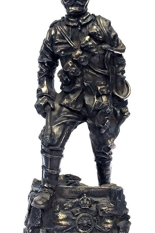WW1 Horse Gunner Cold Cast Bronze Military Statue Sculpture