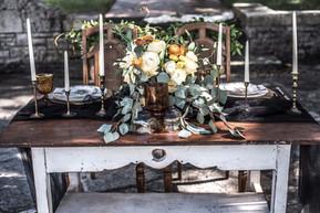 Elegant Black & Gold Vintage Wedding at San Jacinto Historic Site