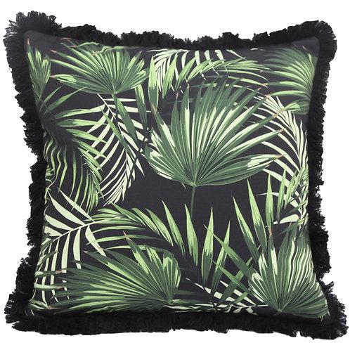 Tropical Black Cushion Cover