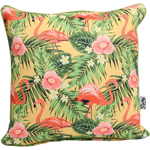 retro flamingo cushion