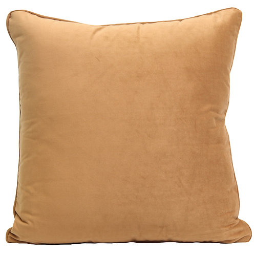 W/Sale Light Brown Caramel Velvet Indoor Cushion Cover