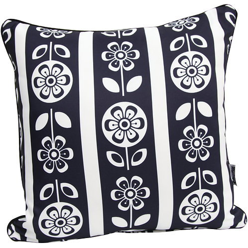 Black and White Outdoor Cushion