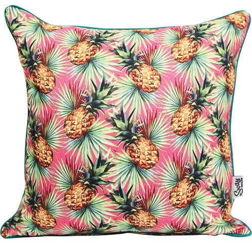 Pink Pineapple Outdoor Cushion