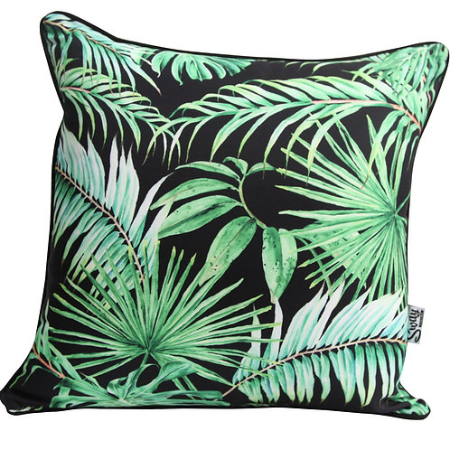 black and green tropical wholesale cushion cover