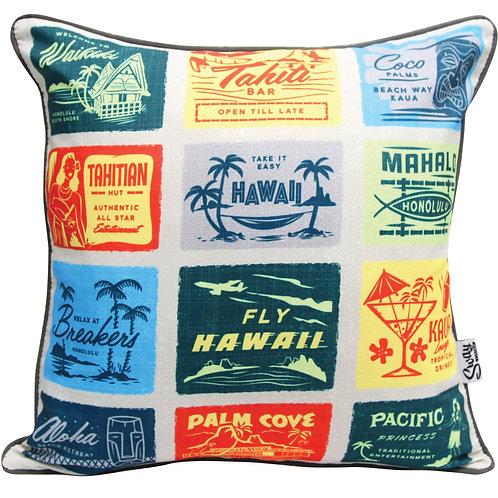 Mid Century Tiki Cushion