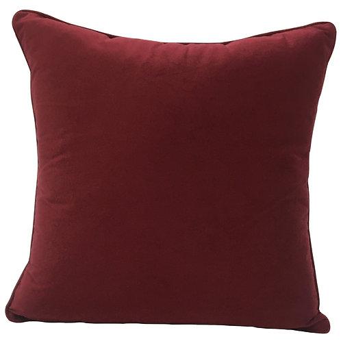 W/Sale Dark Red Velvet Indoor Cushion Cover