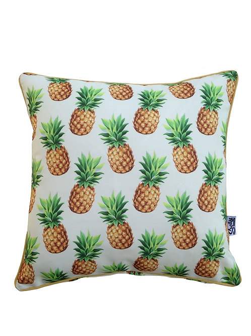 Tropical pineapple outdoor cushion