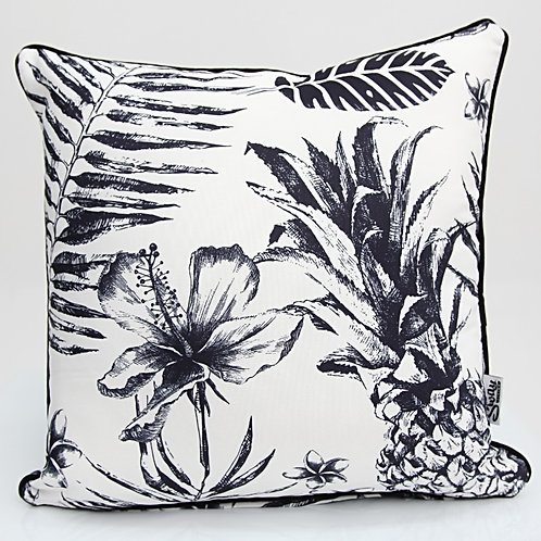 Black and White Tropical Cushion