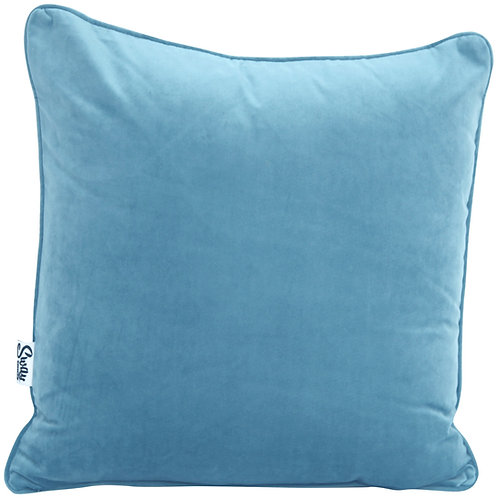 Wholesale Light Blue Velvet Cushion