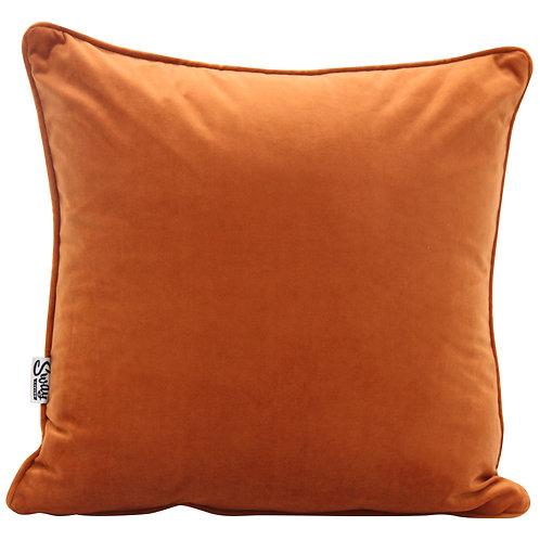 Rust Orange Velvet Cushion Cover