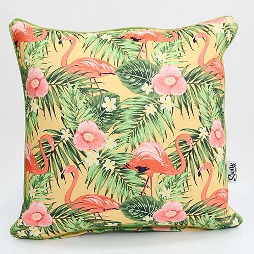 retro flamingo cushion
