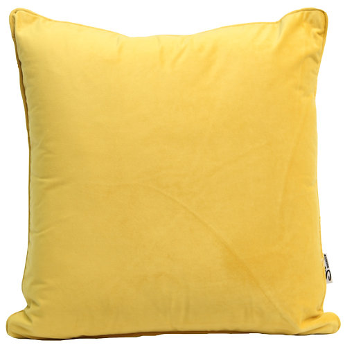 W/Sale Mustard Yellow Velvet Indoor Cushion Cover