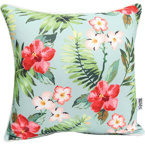 Tropical flowers Outdoor Cushion
