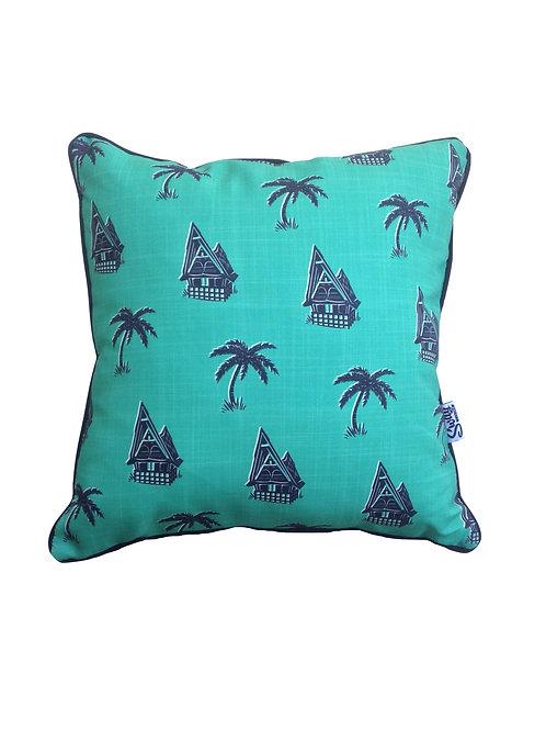 Palm Tree Green Cushion Cover