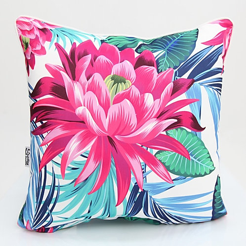 Pink Lily Outdoor Cushion
