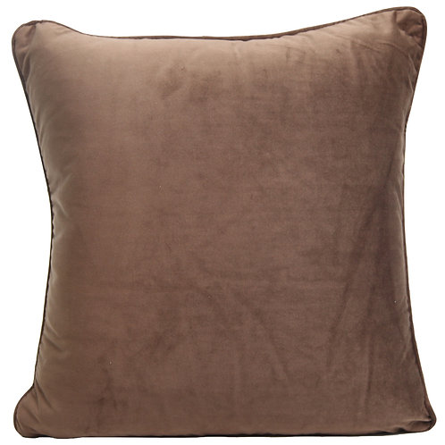 BROWN Velvet Indoor Cushion Cover